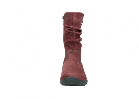wolky mid calf boots 01572 luna 10510 burgundy nubuck_19