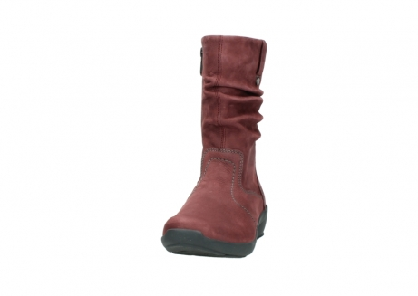 wolky mid calf boots 01572 luna 10510 burgundy nubuck_20
