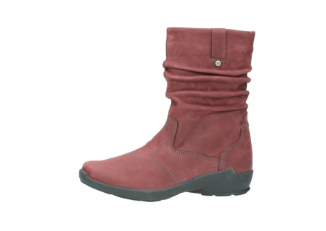 wolky mid calf boots 01572 luna 10510 burgundy nubuck_24