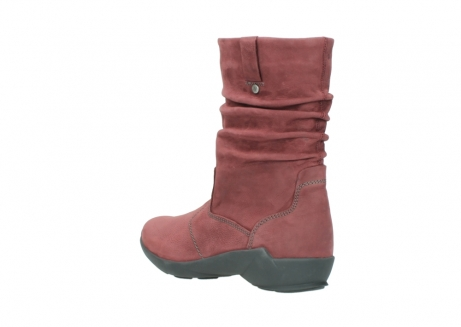 wolky mid calf boots 01572 luna 10510 burgundy nubuck_4