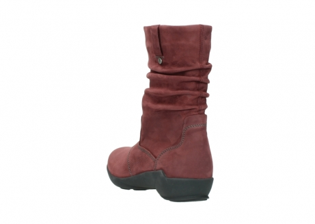 wolky mid calf boots 01572 luna 10510 burgundy nubuck_5