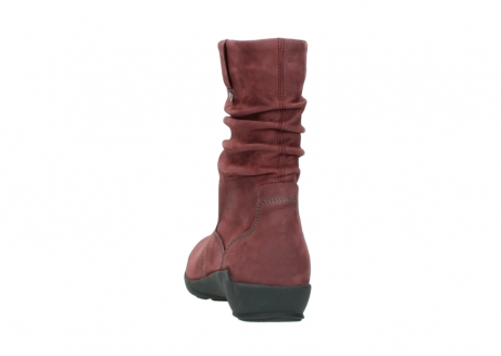wolky mid calf boots 01572 luna 10510 burgundy nubuck_6