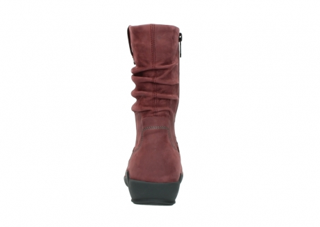 wolky mid calf boots 01572 luna 10510 burgundy nubuck_7