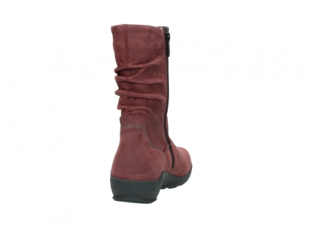 wolky mid calf boots 01572 luna 10510 burgundy nubuck_8