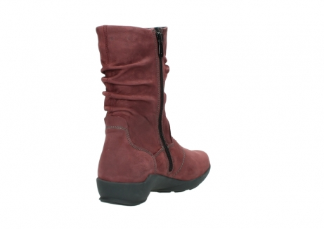wolky mid calf boots 01572 luna 10510 burgundy nubuck_9