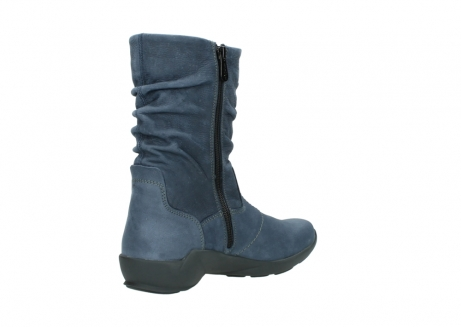 wolky mid calf boots 01572 luna 10800 blue nubuck_10