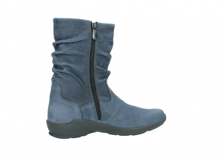 wolky mid calf boots 01572 luna 10800 blue nubuck_12