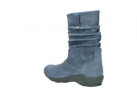 wolky mid calf boots 01572 luna 10800 blue nubuck_4
