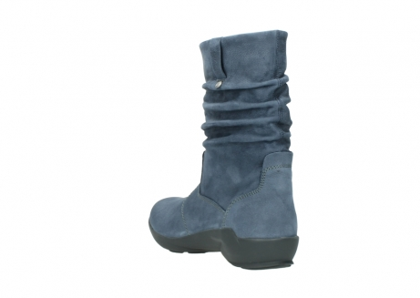 wolky mid calf boots 01572 luna 10800 blue nubuck_5