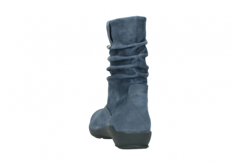 wolky mid calf boots 01572 luna 10800 blue nubuck_6