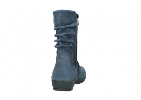 wolky mid calf boots 01572 luna 10800 blue nubuck_8