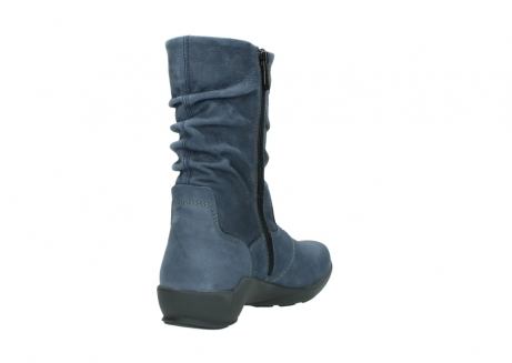 wolky mid calf boots 01572 luna 10800 blue nubuck_9