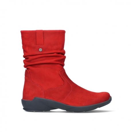 wolky mid calf boots 01572 luna 11505 darkred nubuckleather