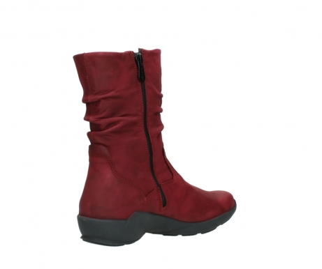 wolky mid calf boots 01572 luna 11530 bordeaux leather_10