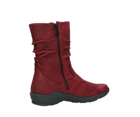 wolky mid calf boots 01572 luna 11530 bordeaux leather_11