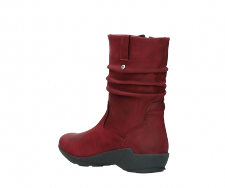 wolky mid calf boots 01572 luna 11530 bordeaux leather_4