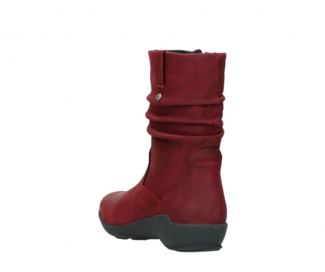wolky mid calf boots 01572 luna 11530 bordeaux leather_5