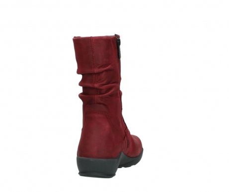 wolky mid calf boots 01572 luna 11530 bordeaux leather_8