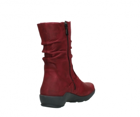 wolky mid calf boots 01572 luna 11530 bordeaux leather_9