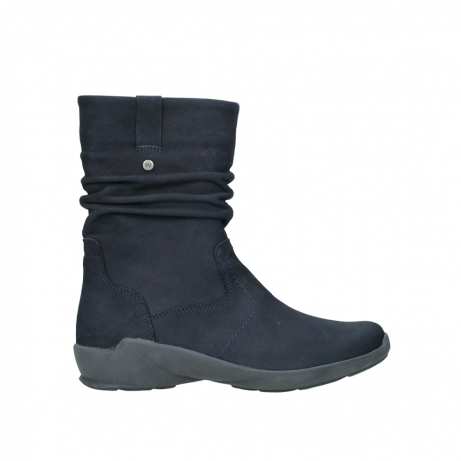 wolky mid calf boots 01572 luna 11802 blue oiled nubuck