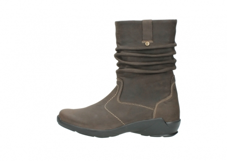 wolky mid calf boots 01573 luna wp 10300 brown nubuck water proof warm lining_1