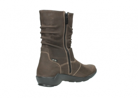 wolky mid calf boots 01573 luna wp 10300 brown nubuck water proof warm lining_10