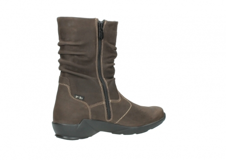 wolky mid calf boots 01573 luna wp 10300 brown nubuck water proof warm lining_11