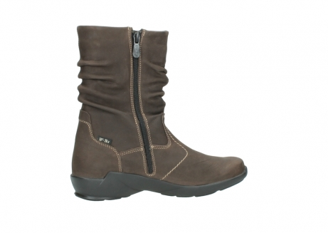 wolky mid calf boots 01573 luna wp 10300 brown nubuck water proof warm lining_12