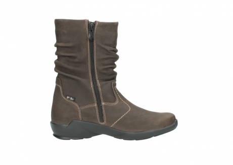 wolky mid calf boots 01573 luna wp 10300 brown nubuck water proof warm lining_13