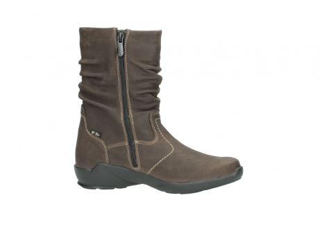 wolky mid calf boots 01573 luna wp 10300 brown nubuck water proof warm lining_14