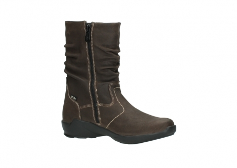 wolky mid calf boots 01573 luna wp 10300 brown nubuck water proof warm lining_15
