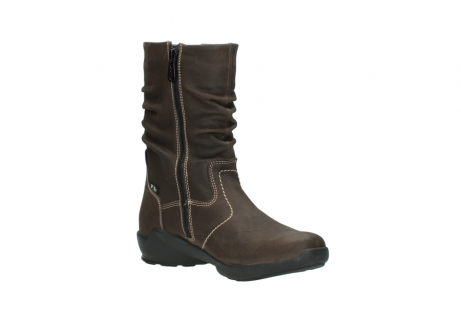 wolky mid calf boots 01573 luna wp 10300 brown nubuck water proof warm lining_16