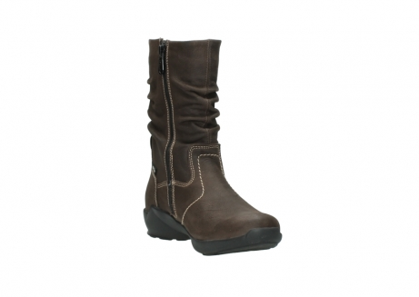 wolky mid calf boots 01573 luna wp 10300 brown nubuck water proof warm lining_17