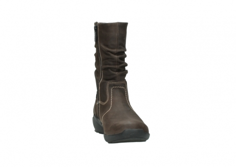 wolky mid calf boots 01573 luna wp 10300 brown nubuck water proof warm lining_18