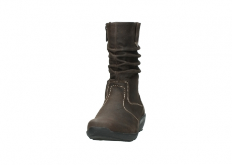 wolky mid calf boots 01573 luna wp 10300 brown nubuck water proof warm lining_20