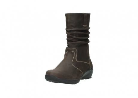 wolky mid calf boots 01573 luna wp 10300 brown nubuck water proof warm lining_21