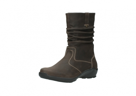 wolky mid calf boots 01573 luna wp 10300 brown nubuck water proof warm lining_22