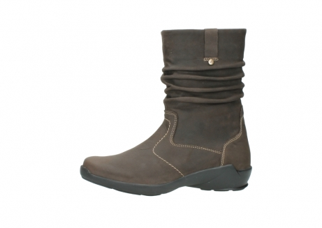 wolky mid calf boots 01573 luna wp 10300 brown nubuck water proof warm lining_24