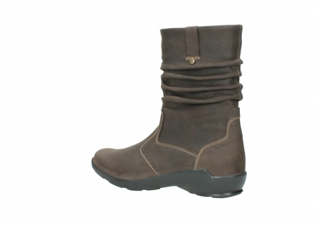 wolky mid calf boots 01573 luna wp 10300 brown nubuck water proof warm lining_3