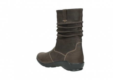 wolky mid calf boots 01573 luna wp 10300 brown nubuck water proof warm lining_4