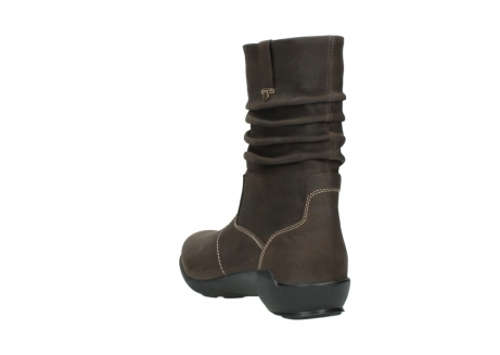 wolky mid calf boots 01573 luna wp 10300 brown nubuck water proof warm lining_5