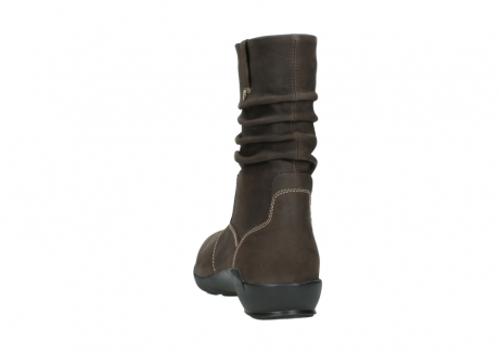 wolky mid calf boots 01573 luna wp 10300 brown nubuck water proof warm lining_6