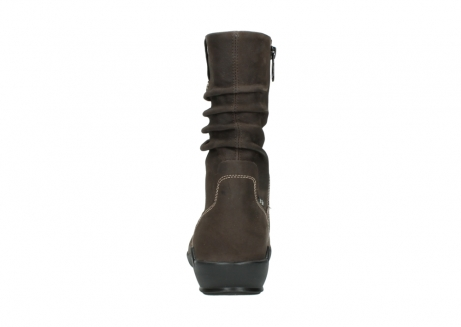 wolky mid calf boots 01573 luna wp 10300 brown nubuck water proof warm lining_7