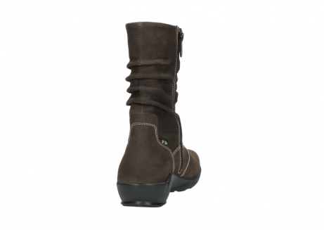 wolky mid calf boots 01573 luna wp 10300 brown nubuck water proof warm lining_8