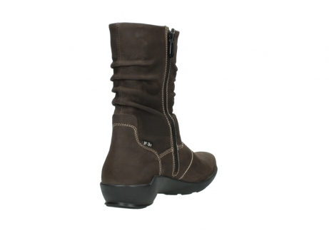 wolky mid calf boots 01573 luna wp 10300 brown nubuck water proof warm lining_9