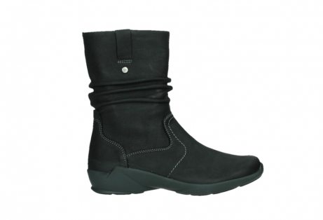 wolky mid calf boots 01573 luna wp 11002 black nubuck water proof warm lining_1