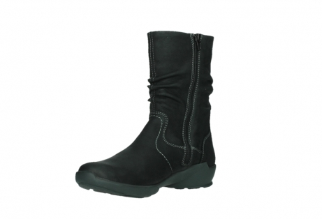 wolky mid calf boots 01573 luna wp 11002 black nubuck water proof warm lining_10