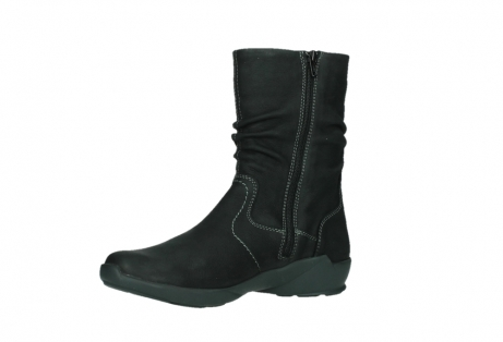 wolky mid calf boots 01573 luna wp 11002 black nubuck water proof warm lining_11