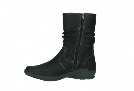wolky mid calf boots 01573 luna wp 11002 black nubuck water proof warm lining_12
