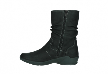 wolky mid calf boots 01573 luna wp 11002 black nubuck water proof warm lining_13